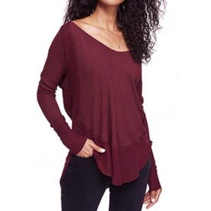 Free people Catalina Thermal in maroon XS